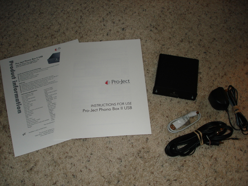 Pro-Ject Phono Box II USB MM/MC phono preamp with USB excellent condition
