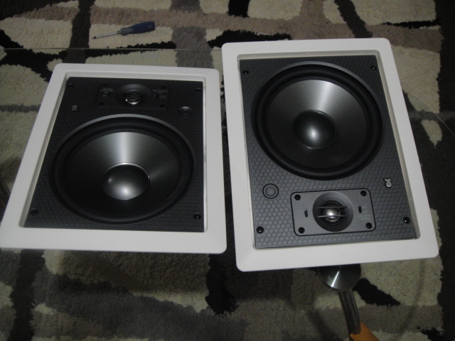 "Revel Concerta IW80  8"" in wall speakers  Pair"