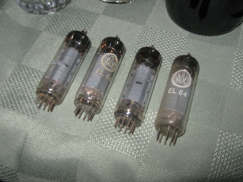 Valvo EL84 / 6BQ5 rx3 matched tubes quad TEST NOS