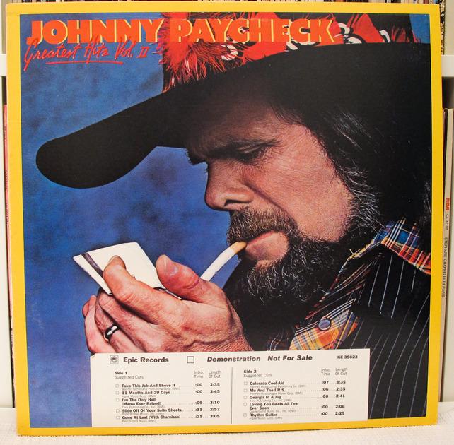 Johnny Paycheck - Greatest Hits, Volume II, (1978) Near Mint