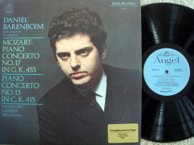 EMI Angel Blue / BARENBOIM, - Mozart Piano Concertox No.17 & 13, NM, Promo Copy!