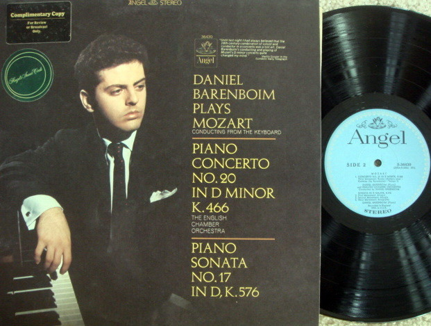 EMI Angel Blue / BARENBOIM, - Mozart Piano Concerto No.2, MINT, Promo Copy!