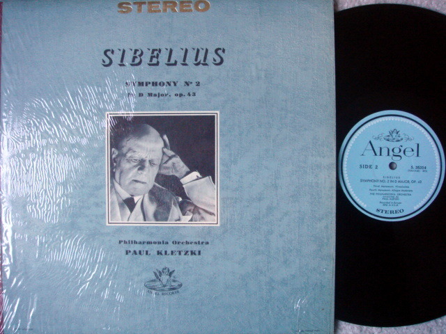 EMI Angel Blue / KLETZKI, - Sibelius Symphony No.2, MINT!