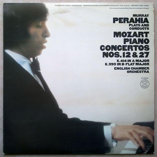 CBS/Murray Perahia/Mozart - Piano Concerto Nos. 12 & 27 / NM