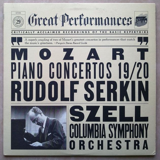 CBS/Szell/Serkin/Mozart - Piano Concertos Nos. 19 & 20 / NM