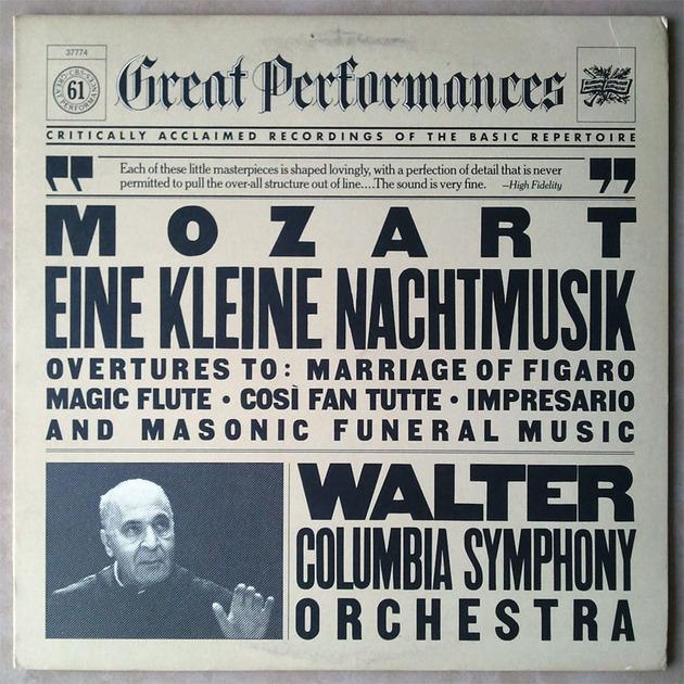 CBS/Bruno Walter/Mozart - Overtures, Eine Kleine Nachtmusik / NM