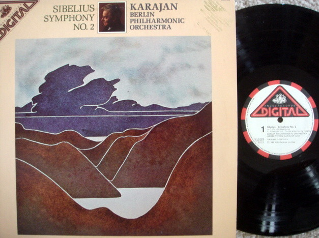 EMI Angel Digital / KARAJAN, - Sibelius Symphony No.2, MINT, Promo Copy!