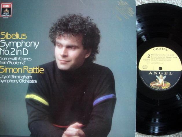EMI Angel Digital / RATTLE,  - Sibelius Symphony No.2, MINT, Promo Copy!