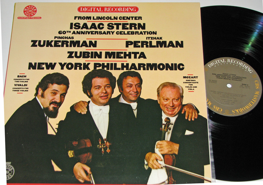 Zukerman Perlman Mehta - Issac Stern 60th Anniv Celebration CBS Mastersound Audiophile Pressing NM-