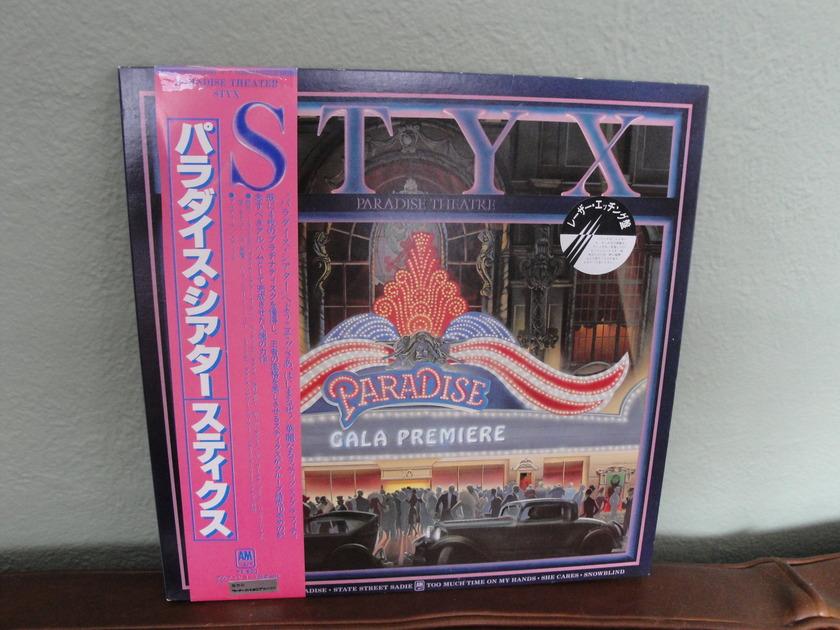 Styx Paradise Theater - Japanese Import A&M W/OBI Vinyl LP