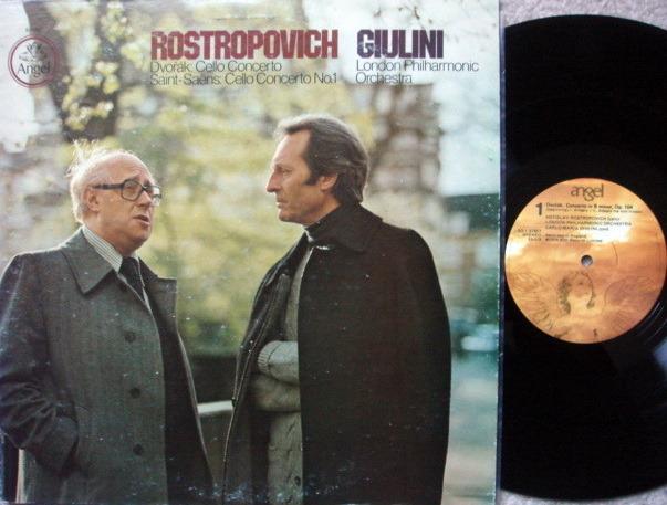 EMI Angel / ROSTROPOVICH-GIULINI, - Dvorak-Saint Saens  Cello Concertos, MINT!