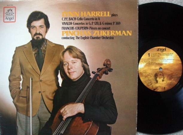 EMI Angel / HARRELL-ZUKERMAN, - Bach-Vivaldi Cello Conertos,  NM-!