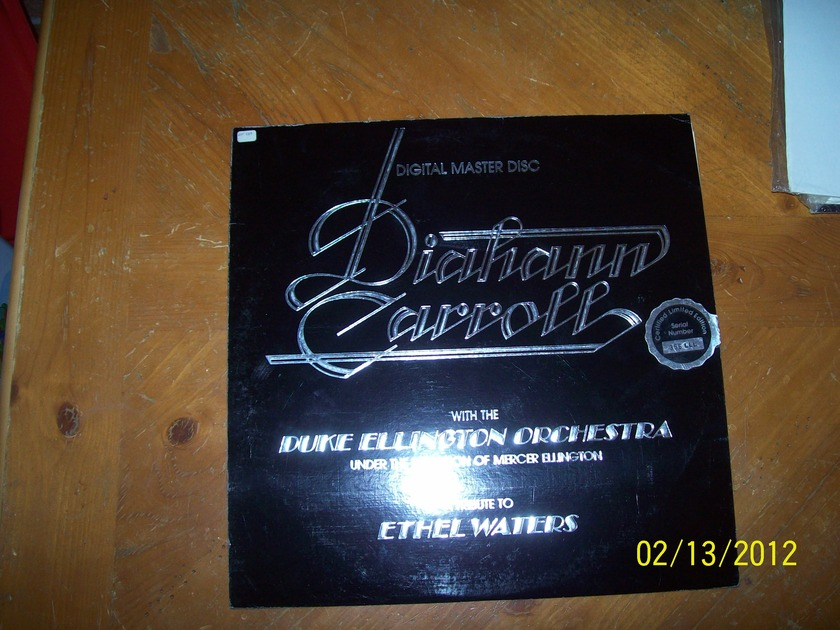 Diahann Carroll with the Duke Ellington Orchestra - A Tribute to Ethel Waters Digital Master Disc Certified Limited Edition Serial # 356 LLL