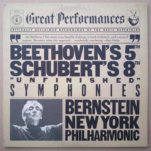 CBS/Bernstein/Schubert Unfinished - & Beethoven 5th Symphonies