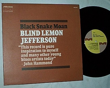 Blind Lemon - Jefferson LP-Black snake moan-orig 1970 album