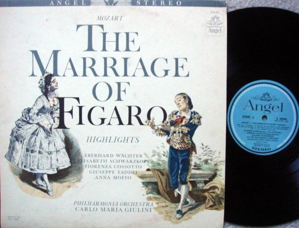 EMI Angel Blue / GIULINI, - Mozart Marriage of Figaro Highlights, MINT!