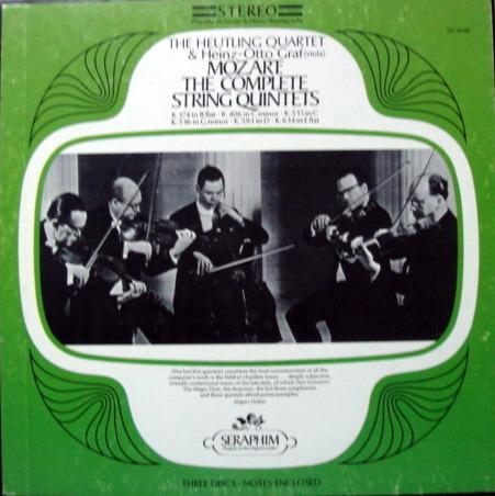 EMI Angel Seraphim / HEUTLING QT, - Mozart The Complete String Quintets, MINT, 3LP Box Set!