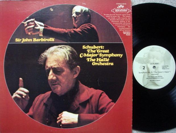 EMI Angel Seraphim / BARBIROLLI, - Schubert Symphony No.9 The Great, NM!