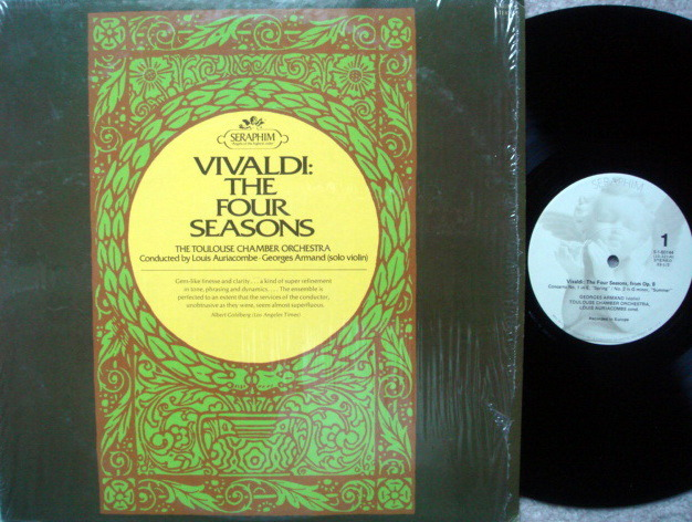 EMI Angel Seraphim / AURIACOMBE, - Vivaldi The Four Seasons, MINT!