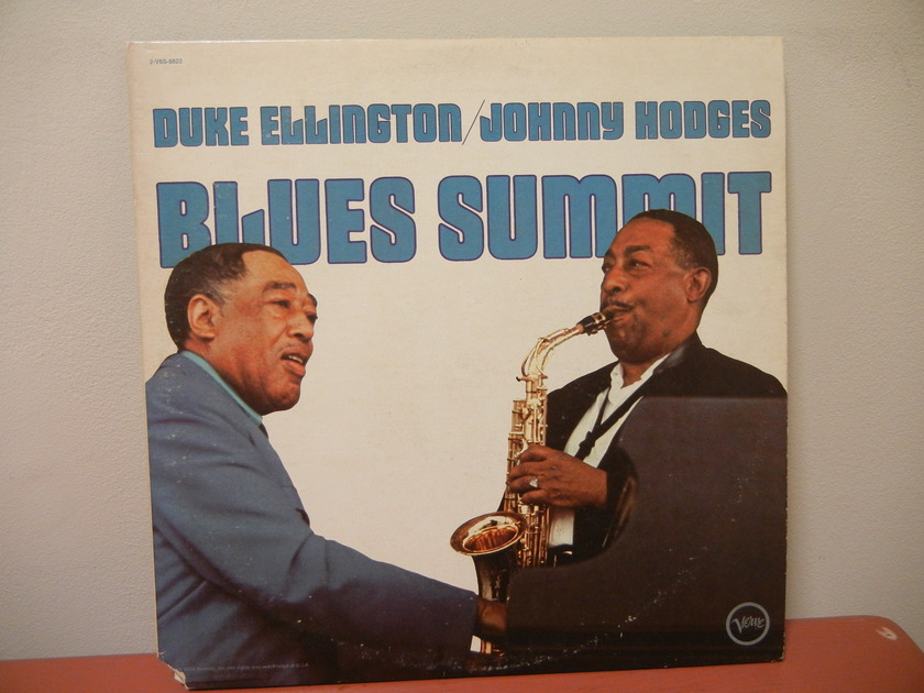 DUKE ELLINGTON JOHNNY HODGES BLUES SUMMITT DOUBLE LP VERVE LABEL