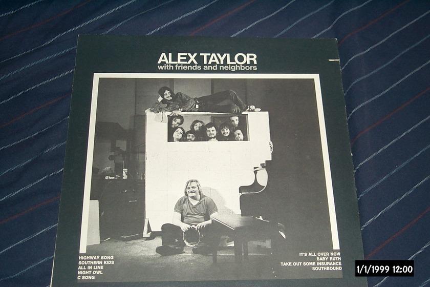 Alex Taylor - With Friends & Neignbors Pink Capricorn Label LP NM