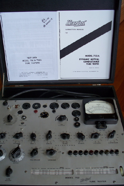 Hickok 752 tube tester modified rebuilt and calibrated