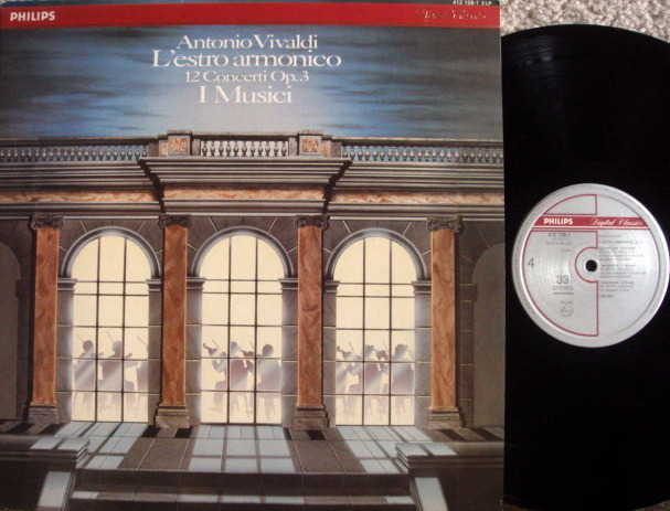 """Philips Digital / I MUSICI, - Vivaldi 12 Concertos """"L'estro Armonico"""", MINT, 2 LP Set!"""