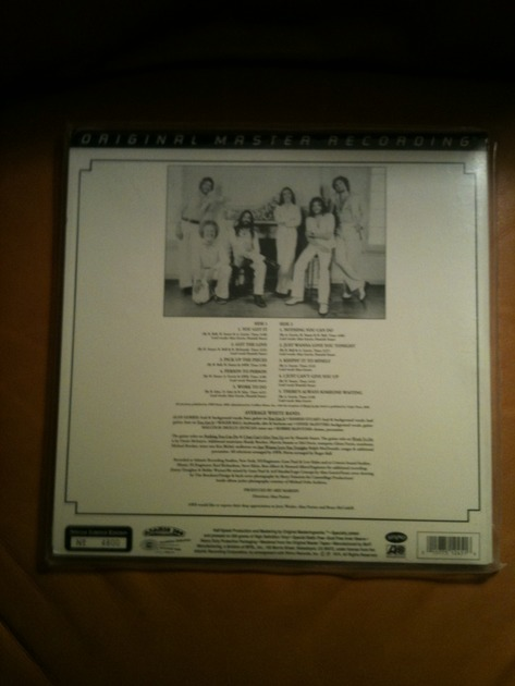 Mfsl Average White - Band - Sealed, LP brand new, pressing no. 4800
