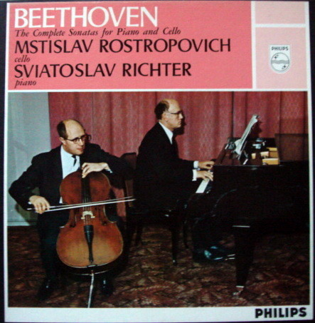 Philips / ROSTROPOVICH-RICHETER, - Beethoven Complete Cello Sonatas, MINT, 2LP Box Set!