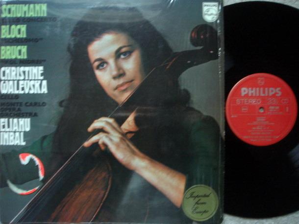 Philips / WALEVSKA, - Schumann Cello Concerto, Bruch Kol Nidrei, MINT!