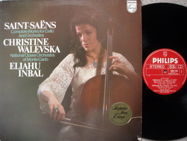 Philips / WALEVSKA, - Saint-Saens Cello Concertos No.1 & 2, MINT!