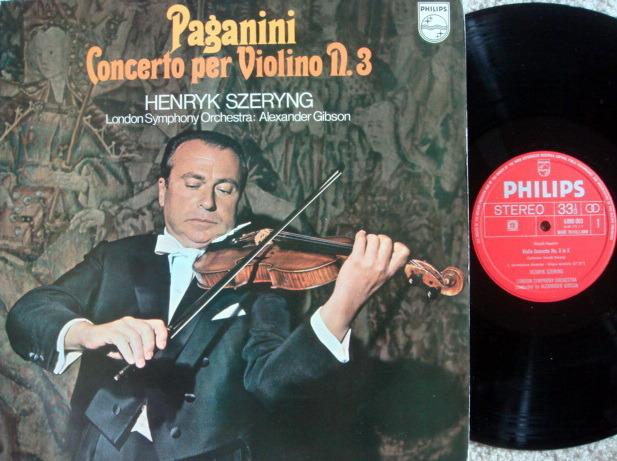 Philips / SZERYNG-GIBSON, - Paganini Violin Concertos No.3,  VG++!