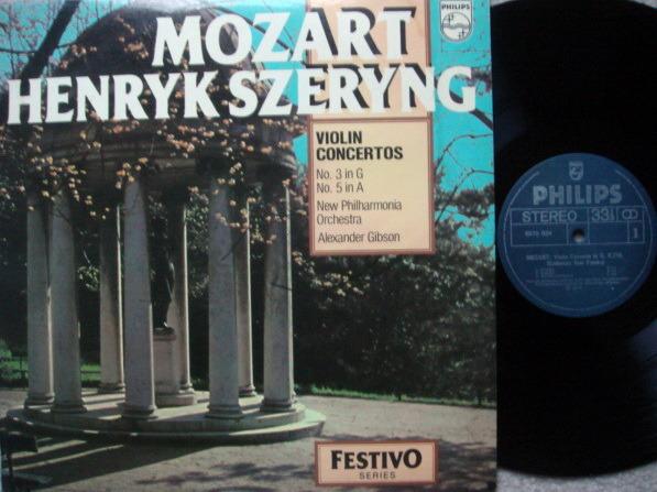 Philips / SZERYNG-GIBSON, - Mozart Violin Concertos No.3 & 5, MINT!