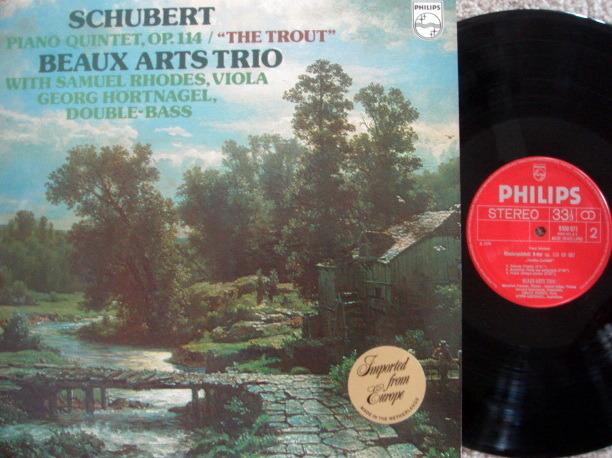 Philips / BEAUX ARTS TRIO, - Schubert Trout Quintet,  MINT!