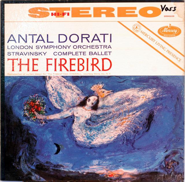 TAS listed Stravinsky Dorati - Firebird Mercury SR 90226 Original Color Back 1st DG Pressing