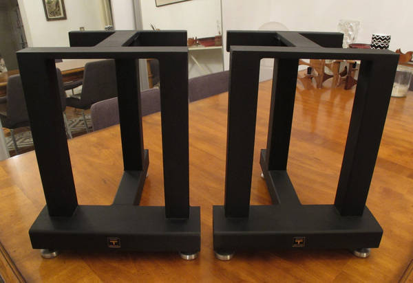"""Sound Anchor 3 Post Speaker Stands 18"""" - MINT - for Harbeth Compact 7's"""
