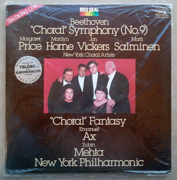 "Sealed/RCA Digital/Mehta/Beethoven - Symphony No.9 ""Choral"" / 2-LP Set / Audiophile Manufactured on Teldec vinyl"