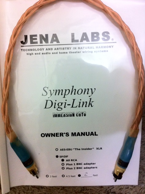 Jena Labs Symphony Digi-Link sp/dif  immersion cryo
