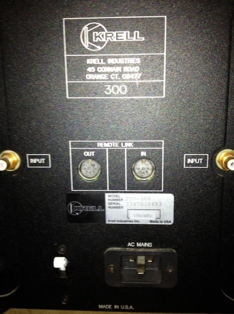 KRELL  FPB 300 AMPLIFIER
