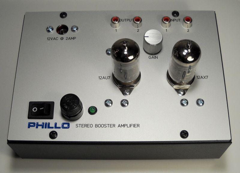 PHILLO Amplifiers BA25 BOOSTER LINE AMPLIFIER Adjustable 25db gain amplifier