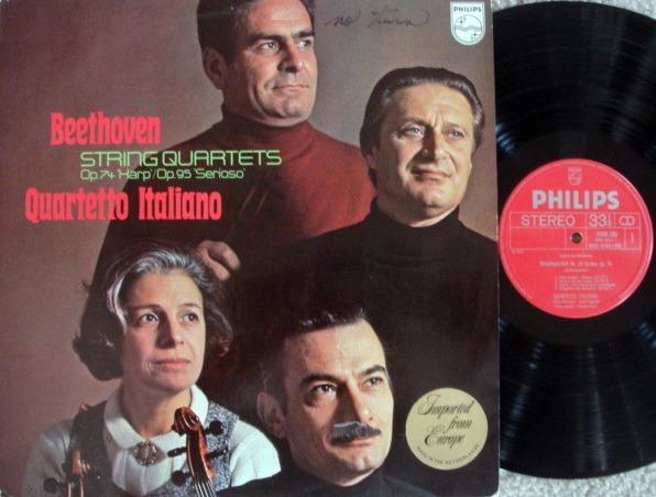 Philips / QUARTETTO ITALIANO, - Beethoven String Quartets No.10 & 11,  MINT!
