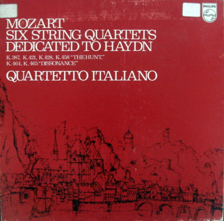 Philips / QUARTETTO ITALIANO, - Mozart Six String Quartets dedicated to Haydn,  MINT, 3LP Box Set!