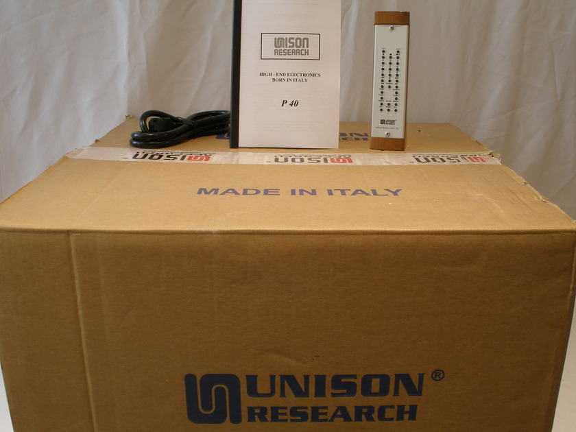Unison Research P-40 40-W Integrated with EL-34