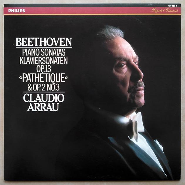 """Philips Digital Classics/Arrau/Beethoven - Piano Sonatas """"Pathetique"""" & Op.2 No.3 / NM"""