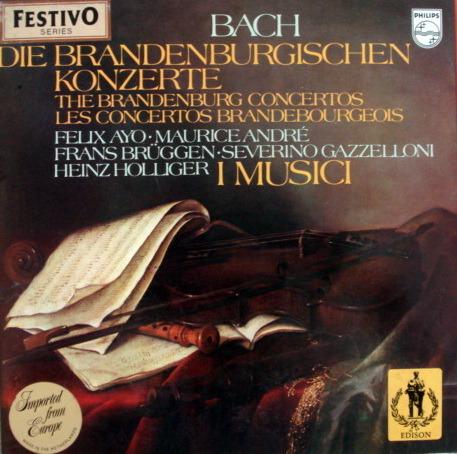 Philips / I MUSICI-AYO-HOLLIGER, - Bach Brandenburg Concertos, MINT, 2LP Box Set!