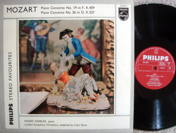 Philips UK / HAEBLER, - Mozart Piano Concerts No.19 & 26, MINT, Early UK Press!