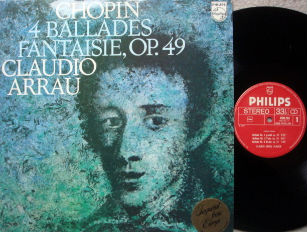 Philips / ARRAU, - Chopin 4 Ballades & Fnatasie, MINT!