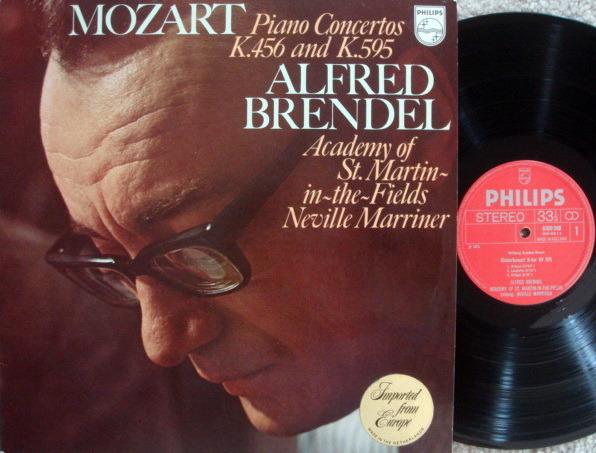 Philips / BRENDEL-MARRINER, - Mozart Piano Concertos K.456 & 595,  MINT!