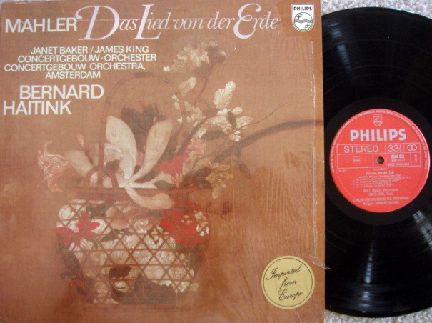 Philips / HAITINK, - Mahler The Song of the Earth,  MINT!