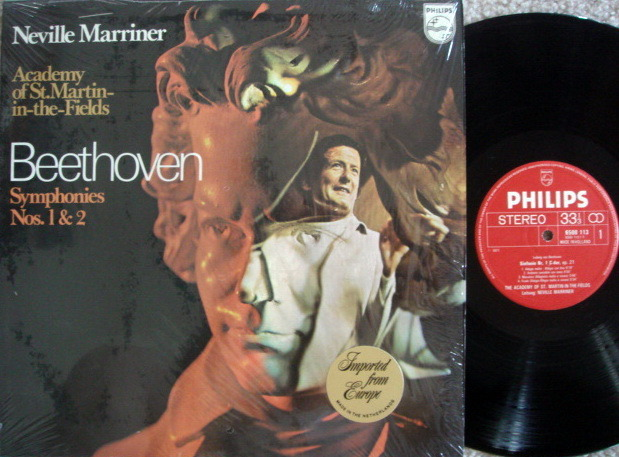 Philips / MARRINER, - Beethoven Symphonies No.1 & 2,  MINT!